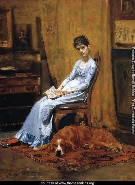 The Artist's Wife and his Setter Dog (Susan Macdowell Eakins)