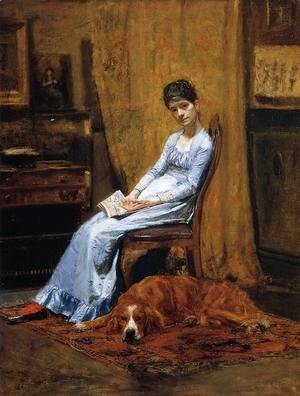Thomas Cowperthwait Eakins - The Artist's Wife and his Setter Dog (Susan Macdowell Eakins)