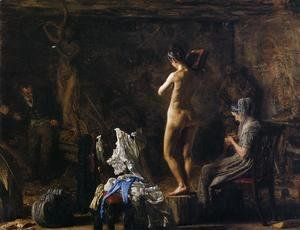 Thomas Cowperthwait Eakins - William Rush Carving his Allegorical Figure of the Schuylkill River 1876-77
